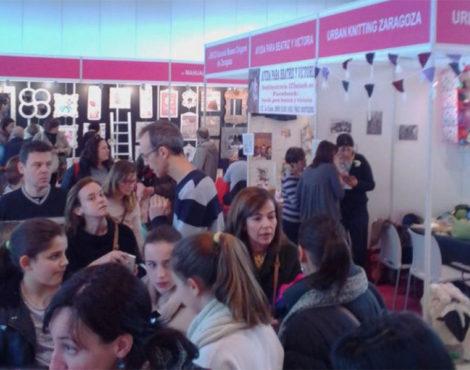 Encuentro de ganchillo en Panadería Pinilla (Zaragoza)