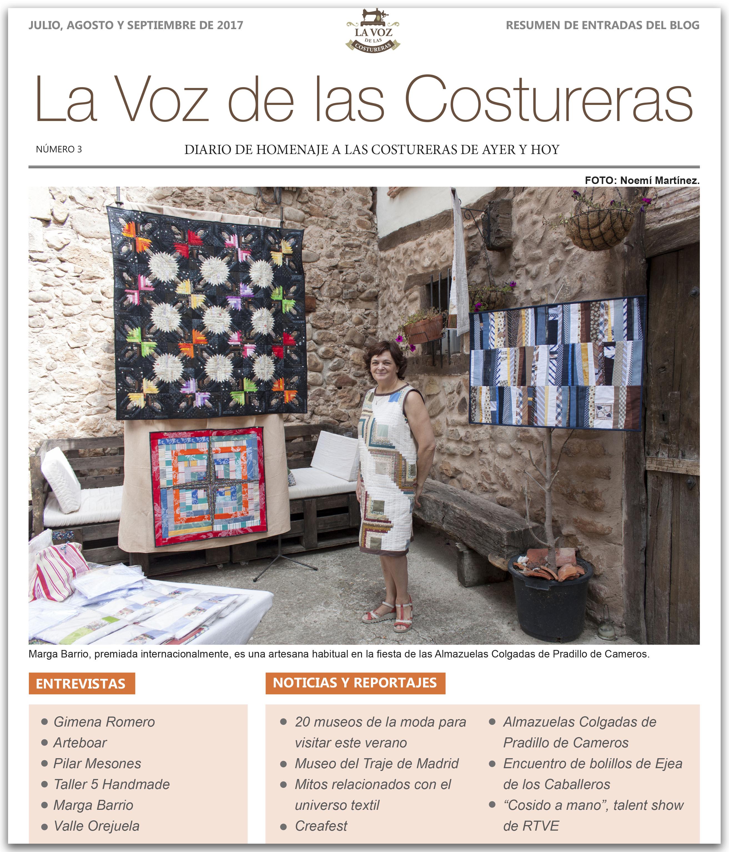 La Voz de las Costureras, resumen post 3º trimestre 2017 en www.blurb.es