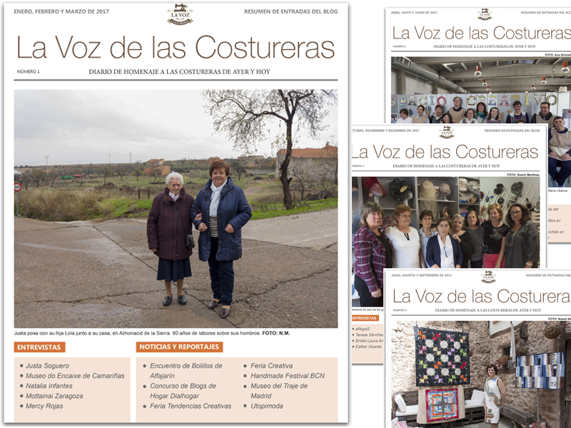 La Voz de las Costureras, resumen post 2017 en www.blurb.es