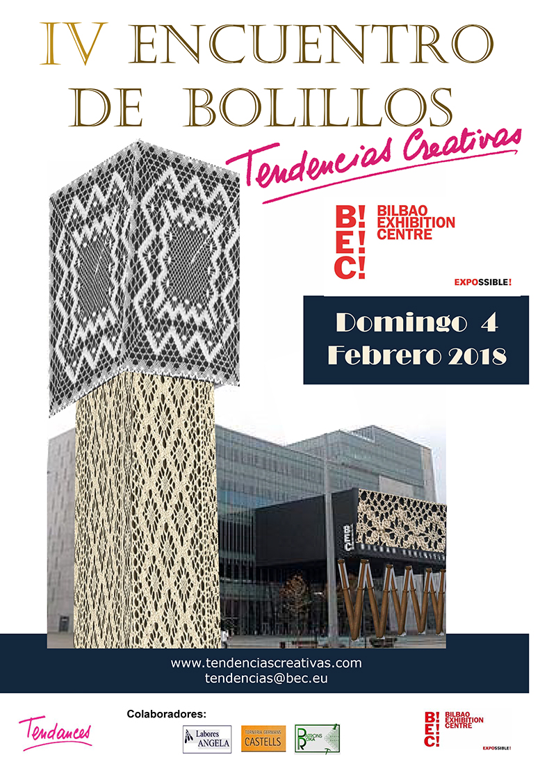 IV Encuentro de Bolillos en la feria Tendencias Creativas, del 1 al 4 de febrero de 2018 en el BEC (Barakaldo, Vizcaya)
