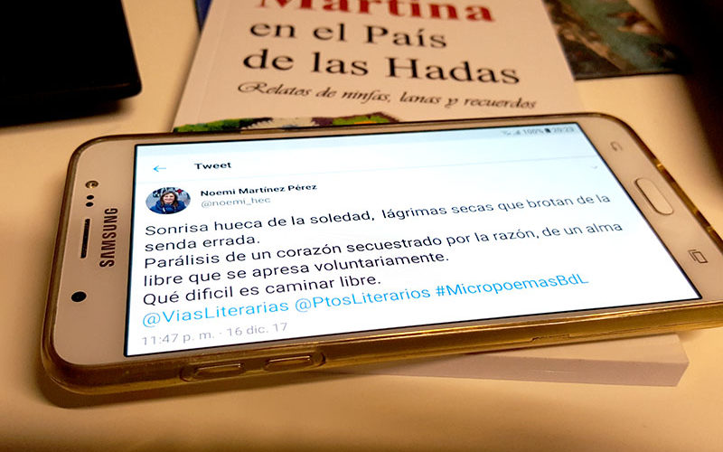 Premiada en el 1º Certamen Internacional de Micropoema Vías Literarias de Barrios de Letras
