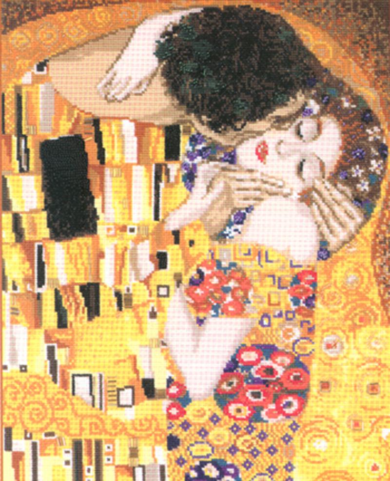 expo hardanger y punto de cruz (beso de Klimt) Feria Tendencias Creativas, del 1 al 4 de febrero de 2018 en el BEC (Barakaldo, Vizcaya)