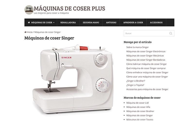 Maquinas de Coser Plus, comparador de máquinas