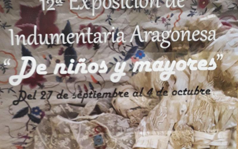 La edición número 12 de la exposición «Indumentaria Aragonesa, de niños y mayores» llegará el próximo jueves día 27 de septiembre de 2018 al Centro de Convivencia Pedro Laín Entralgo de Zaragoza.