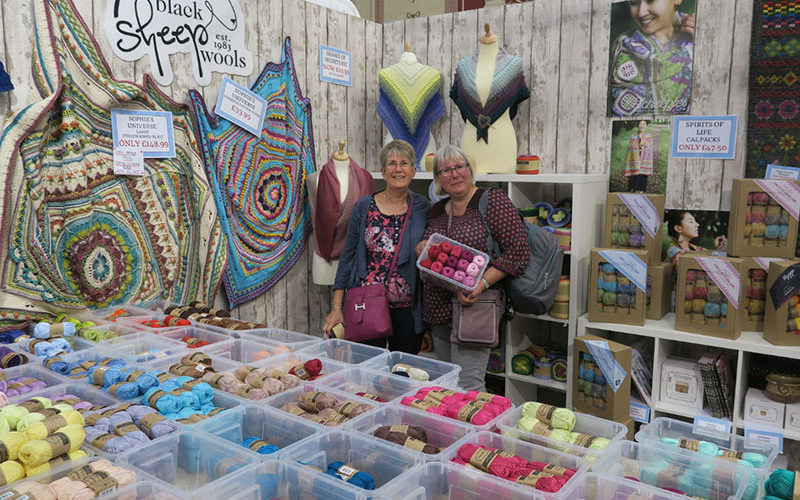 The Knitting and Stitching Show 2017. Black Sheep Stand. Copyright: The Knitting and Stitching Show