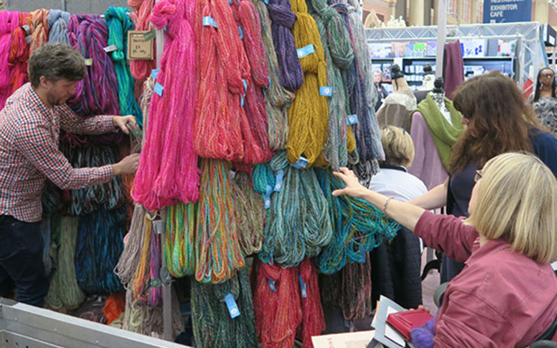 The Knitting and Stitching Show 2017. Colinette Yarns. Copyright: The Knitting and Stitching Show