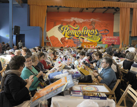 200 encajeras en el VII Encuentro de Remolinos