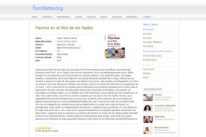 Martina en el País de las Hadas, en www.escritores.org