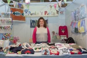 Arancha Sanz, fundadora de Punto y Punto, marca textil artesana aragonesa