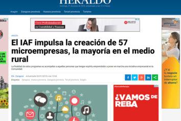 Mi proyecto, en el Heraldo de Aragón