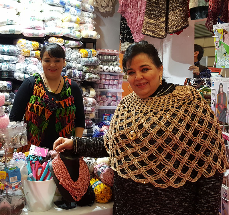 Laura Cepeda en su Stand de la feria Tendencias Creativas 2018 (Barakaldo, BEC)