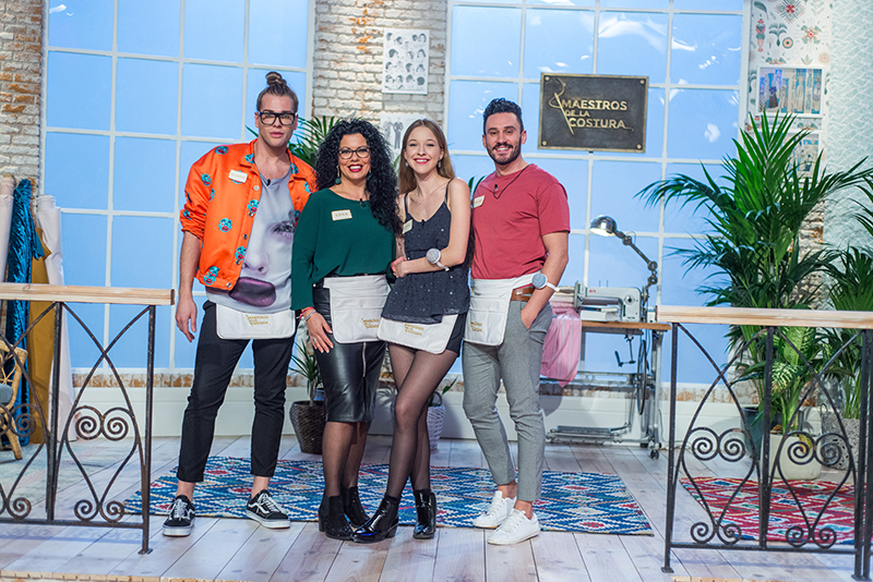 Finalistas de Maestros de la Costura 2018 (Eduardo, Luisa, Alicia y Antonio)