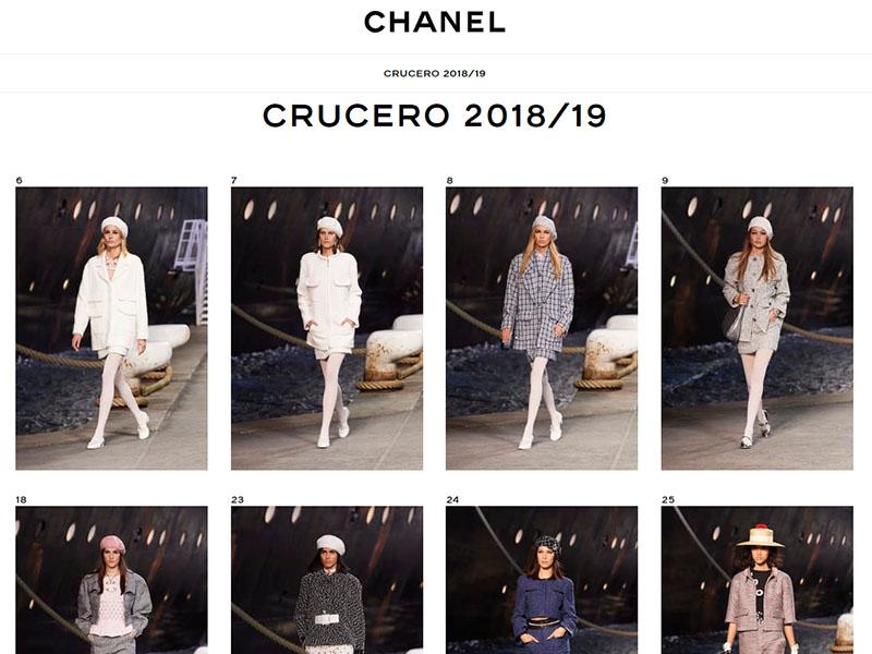 pantallazo web de chanel Fitca curso chaqueta chanel diciembre 2018