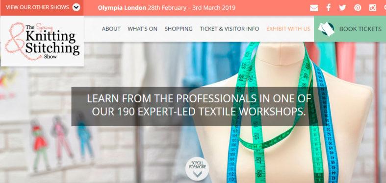 `The Knitting and Stitching Show´, del 28 de febrero al 3 de marzo de 2019 en Londres