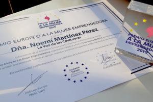 Premio Europeo a la Mujer Emprendedora 2019, para La Voz de las Costureras