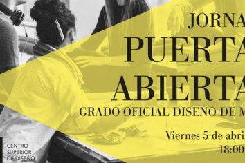 Jornada de puertas abiertas en el Centro Superior de Diseño de Zaragoza