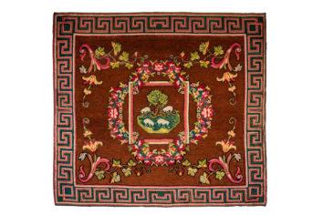 La Real Fábrica de Tapices restaura la alfombra de Cañavera