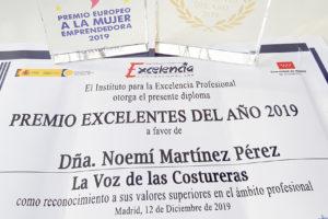 Premio Excelentes 2019 para La Voz de las Costureras