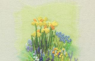 `Paisajes y flores bordados a mano´, de editorial El Drac