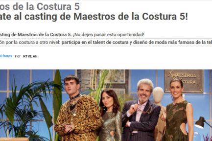 `Maestros de la Costura 5´: casting abierto